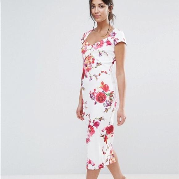 Paper Dolls For Asos Floral Midi Dress Scuba Style